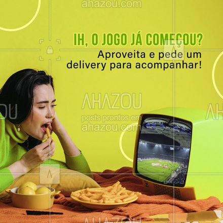 Dia de jogo pede um delivery, faça já o seu pedido! ? #delivery #jogo #jogodefutebol #ahazoutaste  #gastronomia  #culinaria