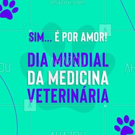 Parabéns à todos os profissionais que movem a carreira por amor aos pets! Agradecemos por cuidar dos nossos anjinhos sempre que necessário! #AhazouPet  #veterinary #veterinarian #medicinaveterinaria #petvet #clinicaveterinaria #medvet #veterinaria