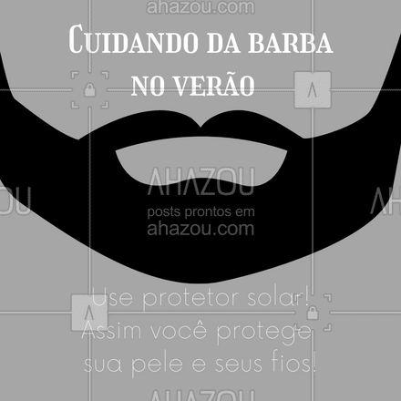 Para evitar resíduos na barba, escolha um produto com o toque seco! ?  #barbudos #barba #dicasdeverao #AhazouBeauty  #barbeirosbrasil #barberShop