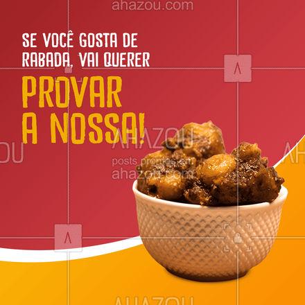 Nada de ficar aí só com água na boca, venha provar nossa rabada. 🍴❤️ #ahazoutaste #restaurante #alacarte #eat #ilovefood #selfservice