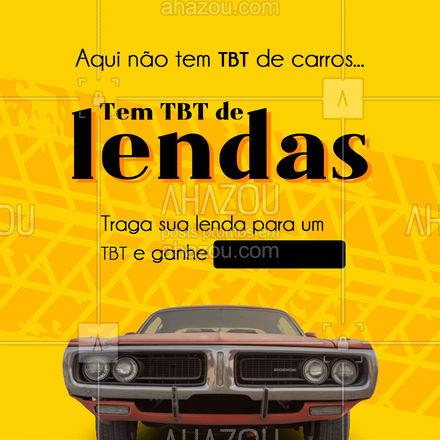 Afinal, lenda que é lenda merece ser bem cuidada! ? #TBT #automotivo #AhazouAuto #automobilistico #carros #AhazouAuto