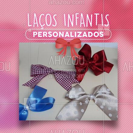 Encomende já laços personalizados infantis! Temos vários modelos a pronta entrega também! Entre em contato.  #AhazouFashion #lacos #lacosinfanti  #instakids #moda #fashion #modainfantil #artesanato
