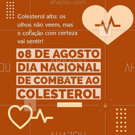 Mantenha hábitos saudáveis e pratique exercícios físicos, cuide de você! Previna=se, o seu colesterol agradece! ? #AhazouSaude  #viverbem #qualidadedevida #bemestar #cuidese #saude #colesterol #hábitossaudáveis #dianacionaldecombateaocolesterol