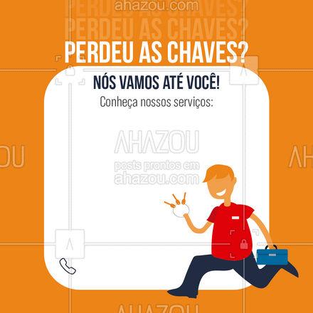É só ligar que você vai ter cópias das chaves! ?? #AhazouServiços #chave #chaveiro #serviços #convite