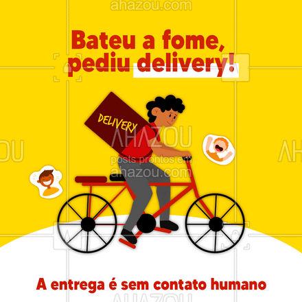 Se você está se prevenindo e também quer pedir um delivery, fique tranquilo! Nossa entrega é sem contato humano, faça já o seu pedido. #Delivery #Entrega #ahazoutaste #ContatoHumano