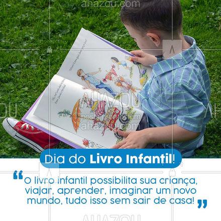 Traga esse hábito para sua família! A leitura só nos trás benefícios sejam adultos ou crianças!  ??  #AhazouEdu #criancas #leiturainfantil #livros #aulas #livrosinfantis #diadoLivroInfantil #LivroInfantil #Leitura #diadaLeitura #kids #infantis #livros