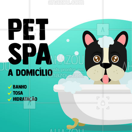 O seu pet merece esse mimo!??? #AhazouPet #banhoetosa #tosahigiênica #instapet #domicílio #atendimentoemcasa #atendimentodomiciliar #petspa