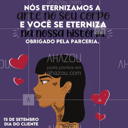 Obrigado por fazer parte da nossa jornada, você é o motivo de tudo isso! 🖤👊 #diadocliente #tattoo #AhazouInk  #estudiodetattoo  #tatuagem