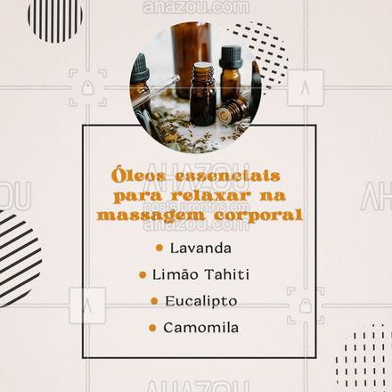A massagem aromática combina as vantagens da massagem terapêutica com a eficiência do uso dos óleos essenciais ??♀?♂#AhazouSaude  #massoterapia #relax #massagem #massoterapeuta #oleoessencial #oleosessenciais #dicas