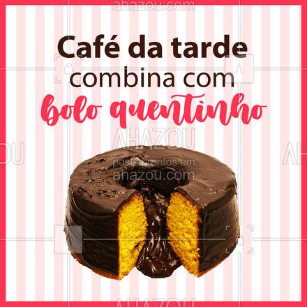 Junta o cheirinho do bolo fresquinho com o cheirinho do café... ??  #BoloQuentinho #BoloCaseiro #ahazoutaste  #confeitaria