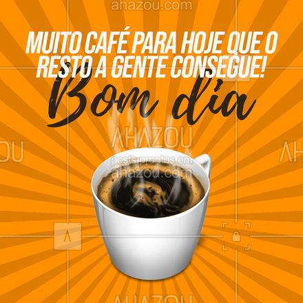 O café nos da força e foco para conquistar cada desafio do nosso dia!☕ #cafeteria #café #coffee #barista #coffeelife #ahazoutaste #frases #xícaradecafé #motivacional #bomdia