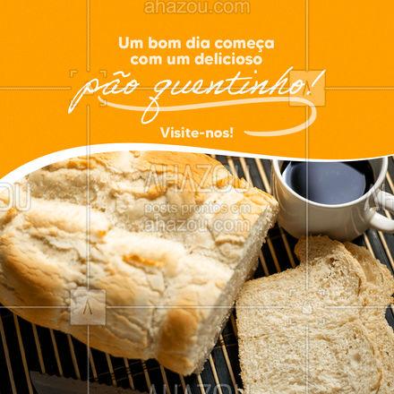 Suas manhãs merecem este mimo... Venha levar seus pães quentinhos feitos com amor e carinho! ?? #ahazoutaste #pãoquentinho  #padaria  #cafedamanha  #padariaartesanal  #panificadora