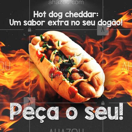 Se hot dog é bom imagina com cheddar! Venha agrantir seu dogão de cheddar! 🌭 #ahazoutaste #hotdog  #hotdoglovers  #hotdoggourmet  #cachorroquente  #food