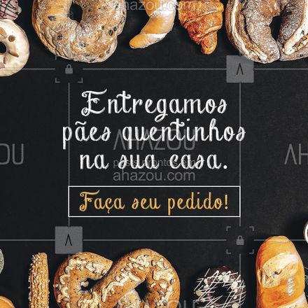 Aqui tem pão quentinho toda hora e também tem pão quentinho via delivery! Faça seu pedido! Entregamos pão quentinho direto na sua casa! ?✨ #ahazoutaste #pãoquentinho  #padariaartesanal  #cafedamanha  #panificadora #delivery
