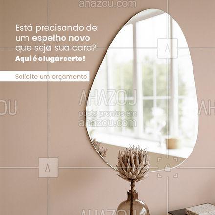 Aqui o vidro é do seu jeito! Precisou de espelho, é só chamar a gente! ?(preencher) #AhazouVidraçaria  #vidrotemperado #vidracaria #espelho #orçamento