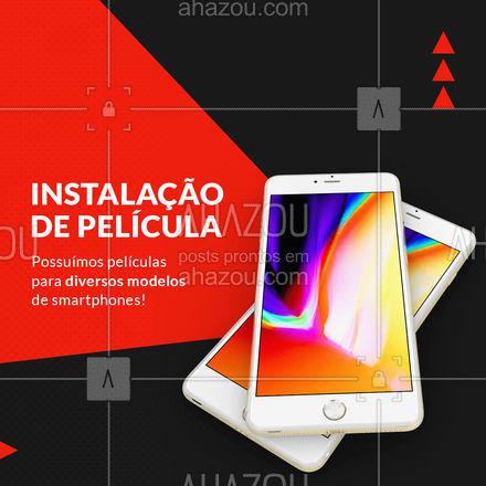 Variedade de películas para diversos modelos de smartphones! ? Venha garantir a sua! ? #assistenciacelular #celulares #peliculas #ahazoutec #celular #tablets #assistencia