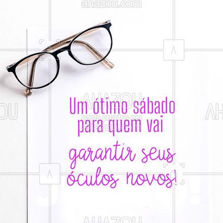 Quem também ama um par de óculos novos levanta a mão ?♀?♂! Então aproveite o seu sábado e venha garantir o seu! #sabado #sabadou #AhazouÓticas #oculos #oculosnovos #oticas #AhazouÓticas