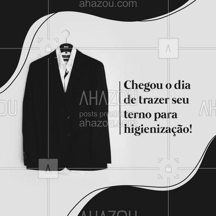 Traga seu terno, e desfrute de um serviço de extrema qualidade e eficiência! #AhazouServiços #terno  #roupalavada  #roupalimpa  #lavanderia