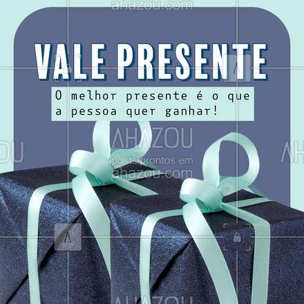 Procurando o presente perfeito? Então dê nosso vale presente! #presenteperfeito #presente #ahazou #presenteideal #valepresente #ahazou