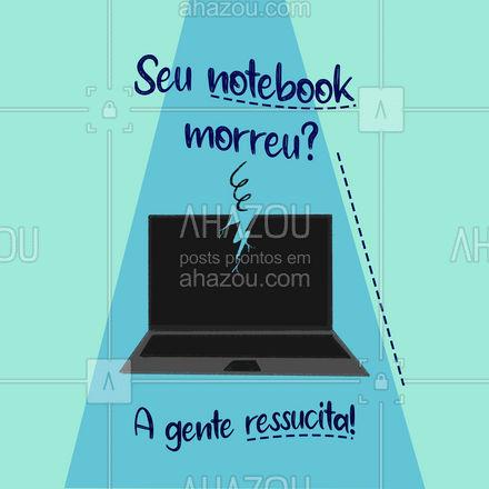 Somos especialistas em ressucitar notebooks! ? Vamos resolver isso!?   #AhazouTec  #notebook #manutencao #conserto #tecnologia #eletrônicos #assistencia #AssistenciaTecnica
