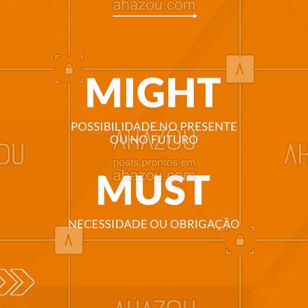 Esses são os modal verbs mais utilizados, tome nota sobre eles. ?✍️   #AhazouEdu  #aulasdeingles #ingles #english #modaverbs #dicas #carrosselahz