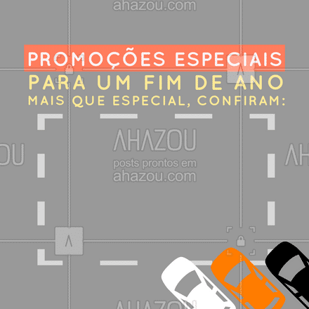 Para que este fim de ano seja muito especial, preparamos para vocês algumas promoções imperdíveis, confiram: (colocar aqui ad informações da promoção e quais serviços estão). #promoções #elétrica #AhazouAuto #fimdeano #editavel