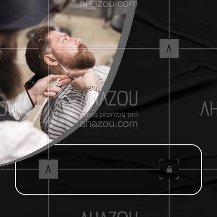 Vem pra cá fazer barba&cabelo! ? #barbeiro #barba #barbershop #AhazouBeauty  #barbeirosbrasil #barberLife