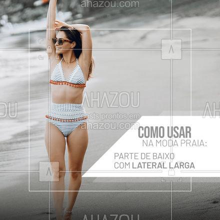 Segurança é o benefício principal aqui! Com esse biquíni, dá pra fazer esportes, correr, pular, nadar e qualquer outro movimento mais intenso sem preocupações.  #AhazouFashion  #tendencia #moda #modapraia #summer #praia #beach #fashion #verao