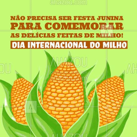 Confira todas as receitas feitas de milho do nosso cardápio e celebre o dia! ? #ahazoutaste  #padaria #doces #confeitaria #bolo #bolocaseiro