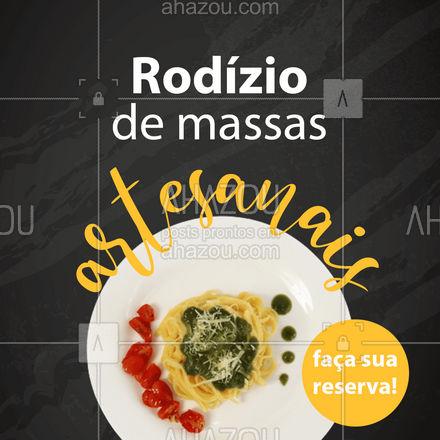 Venha experimentar o melhor rodízio de massas artesanais da sua região! ?? #rodízio #massas #ahazoutaste #artesanal #pasta #comidaitaliana
