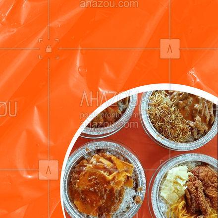 A gente entrega amor e sabor em forma de marmita rapidinho! Faça seu pedido! 😉 #ahazoutaste  #marmitas #marmitex #marmitando #comidadeverdade #marmita #comidacaseira #pedido #delivery #entrega #convite