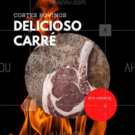 Temos o famoso Carré te esperando! Adquira o seu e faça do seu almoço um sucesso!   #ahazoutaste #carre #carnesuina  #açougue