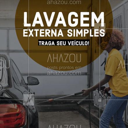 Hoje é dia de lavar o carro! Traga seu veículo para uma lavagem externa!   #AhazouAuto #lavajato #lavagemexterna #estetica  #esteticaautomotiva #carro #esteticaelavajato