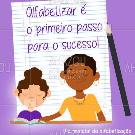 Isso é transformar pessoas e o mundo.??  #AhazouEdu #educação #estudo #alfabetizacao #diamundialdaalfabetizacao #motivacional #frase