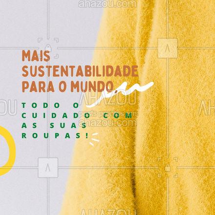 A lavagem ecológica traz mais sustentabilidade para o mundo, com o uso de produtos não nocivos ao meio ambiente. Sem perder o cuidado que suas roupas merecem. Opte por lavagens ecológicas, ajude o meio ambiente. ?? #AhazouServiços #lavanderia #roupalavada #roupalimpa #AhazouServiços