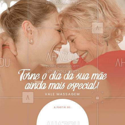 Sua mãe merece todo o amor do mundo! Dê um vale massagem a ela!?  #AhazouSaude  #massoterapia #quickmassage #relax #massoterapeuta #diadasmaes