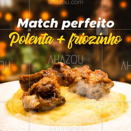 Não tem coisa melhor que uma deliciosa polenta nos dias mais frios não é mesmo? Então não perca tempo e peça já a sua! #restauranteitaliano #comidaitaliana #ahazoutaste #italianfood #italy #cozinhaitaliana #polenta #ahazoutaste