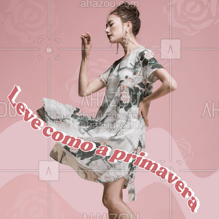 Os vestidos românticos estão em alta, principalmente os estampados! Fique por dentro das tendências, confira nossa coleção de vestidos! #primavera #tendencia #ahazoufashion #fashion #moda #style