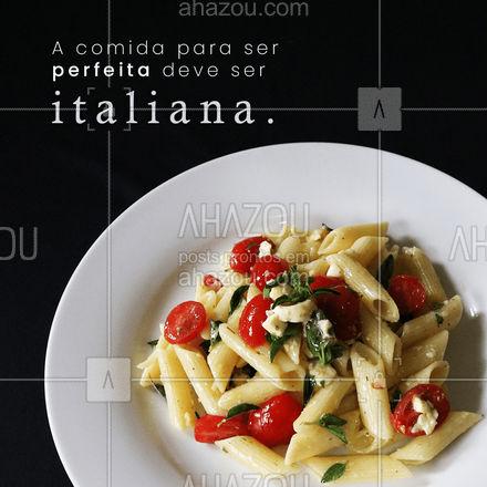 Mamma mia! Não tem quem resista à uma boa massa! ?? #comidaitaliana #massas #ahazoutaste #macarrao #instafood