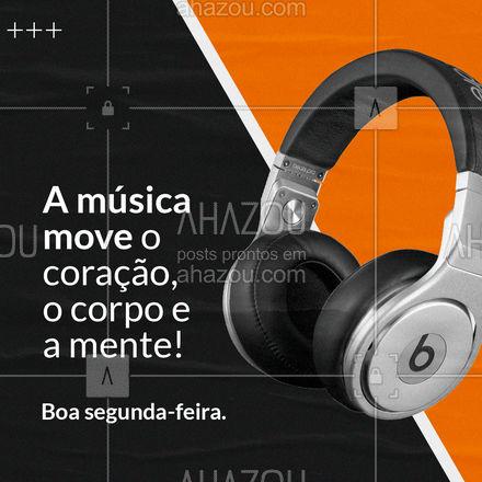 Ao apreciar música aquecemos nossos corações, movimentamos a mente e o corpo. Faz parte de quem somos! ? #AhazouEdu #aprendamúsica #professordemusica #música #instrumentos #motivacional #boasegunda