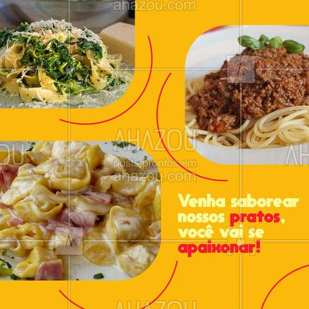 Comida italiana com verdadeiro sabor da Itália, venha saborear nossos pratos. ? #ahazoutaste #pasta  #restauranteitaliano  #massas  #comidaitaliana  #italianfood  #cozinhaitaliana  #italy
