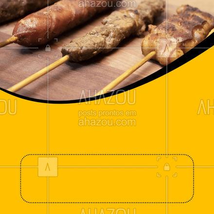 Faça seu pedido de espetinhos, aproveite as variedades! ?? #ahazoutaste #churrasco #açougue #churrascoterapia #meatlover