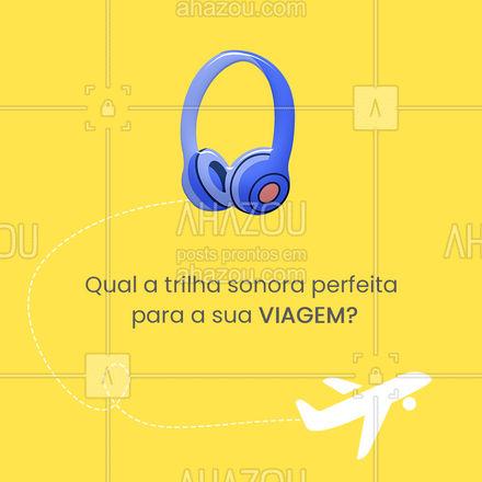Viajar sem música não tem graça nenhuma a trilha sonora certa faz a viagem ficar ainda melhor. Conta pra gente qual a trilha sonora prefeita para você? #viagens #viajar #AhazouTravel #viagem #trip #agenciadeviagens #viageminternacional #agentedeviagens