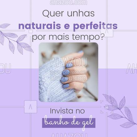 Você merece um tratamento potente e fortalecedor para as suas unhas,  marque seu horário. 💅#banhodegel #AhazouBeauty #manicure #nails #beleza
