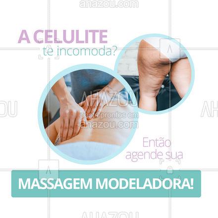 A massagem modeladora é uma técnica que utiliza movimentos rápidos e intensos, com intuito de atingir as camadas mais profundas da pele! Indicada para quem deseja reduzir medidas reduzir as celulites! Então não perca mais tempo e agende já o seu horário! #quickmassage #massoterapia #AhazouSaude #relax #massoterapeuta #massagem