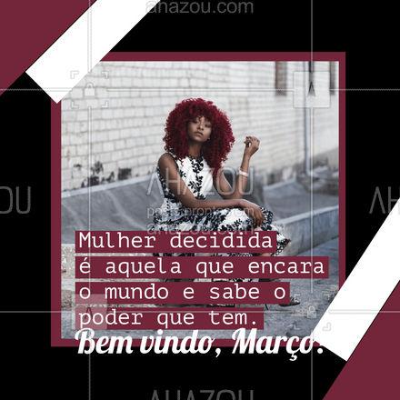 Bem vindo, Março. Que não faltem momentos para mostrar para o poder de ser uma mulher decidida! ❤️ #AhazouFashion  #lookdodia #fashion #OOTD #style #moda #outfit