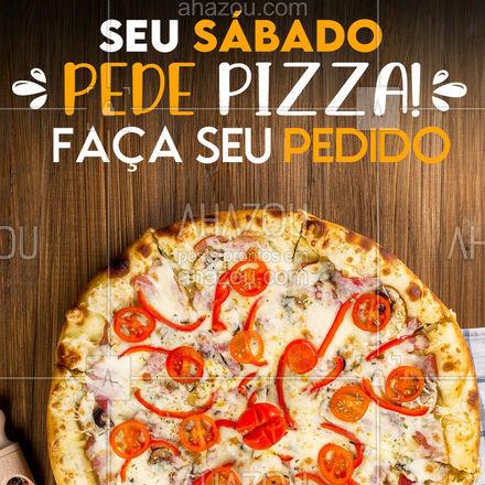 Seu sábado muuuito mais saboroso! Vem de pizza! 😋 #ahazoutaste #pizzaria  #pizzalife  #pizza  #pizzalovers