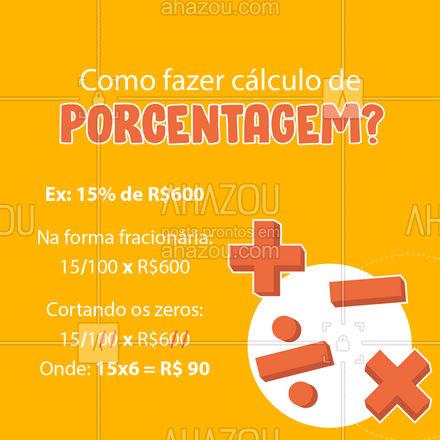 Assim fica muito mais fácil e prático calcular porcentagem! ? Você já usava esse método? ? Conta pra gente! ?? #MacetesdeMatematica #Matematica #AhazouEdu #Porcentagem #aulaparticular #AhazouEdu