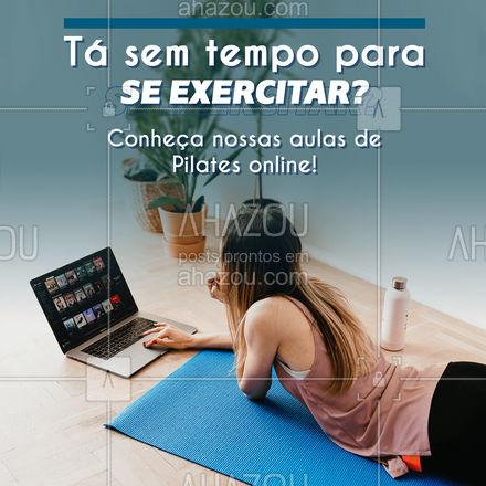Além de todos os benefícios para saúde física e mental, o Pilates online ainda garante maior flexibilidade para sua agenda! Agora não tem mais desculpa, hein?  #AhazouSaude  #pilateslovers #workout #fitness #pilates #pilatesbody