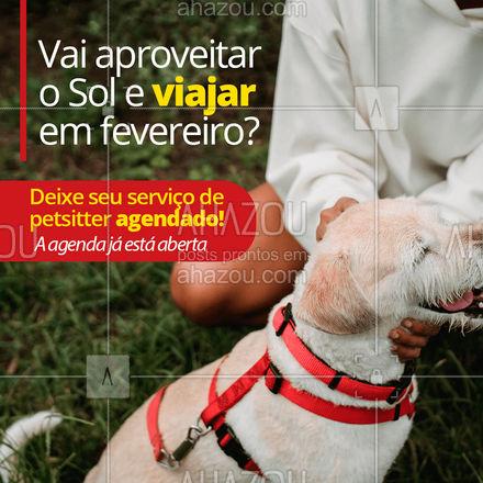 Não deixe para o último minuto! Garanta o bem-estar, segurança e conforto do seu pet agendando os serviços agora. #AhazouPet  #dogwalkersofinstagram #dogsitter #dogsofinstagram #petsitting #dogtraining
